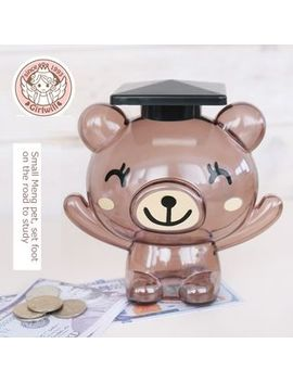 Kazzed   Bear Graduate Coin Bank by Kazzed