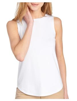 Shirttail Hem Sleeveless Top 						Shirttail Hem Sleeveless Top by Cupio 						Cupio