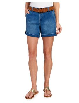 Belted Cuffed Denim Shorts 						Belted Cuffed Denim Shorts by One 5 One 						One 5 One