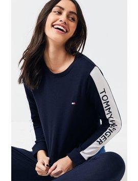Tommy Hilfiger Long Sleeve Inset Logo Sweatshirt by Pacsun