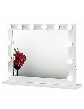 Joyful Store Hollywood Makeup Mirror,Wall Mounted Dressing Illuminated Cosmetic Mirror,Backstage Studio Tabletop Vanity Lighting Mirror, White (6580) by Joyful Store Give Me 5