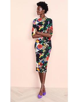 Delora Fitted Midi Dress by Alice + Olivia
