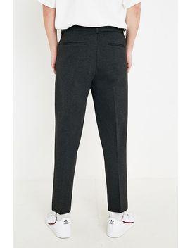 Loom   Pantalon Court Ajusté En Jersey Gris by Loom