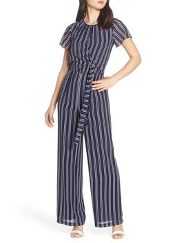 Mega Railroad Stripe Jumpsuit by Michael Michael Kors