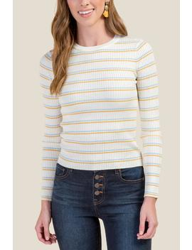Kaleigh Crew Neck Pullover Sweater by Francesca's