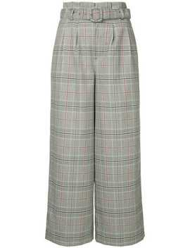 Checked Wide Leg Trousers by Loveless