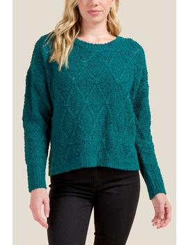 Alison Diamond Stitch Sweater by Francesca's