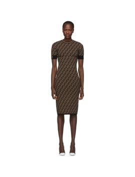 Black & Brown 'forever Fendi' Dress by Fendi