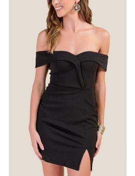 Taryn Off The Shoulder Bodycon Dress by Francesca's