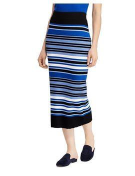 Striped Knit Midi Skirt by Lauren Ralph Lauren
