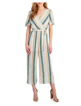 Striped Cropped Wide Leg Jumpsuit 						Striped Cropped Wide Leg Jumpsuit by June & Hudson 						June & Hudson