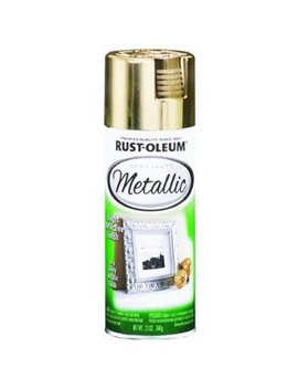 Gold Metallic Bright Reflective Finish Spray by Rust Oleum