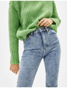 Jeans Skinny Super High Rise Cropped by Bershka