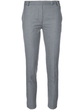 Cropped Tailored Trousers by Styland