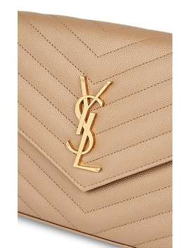 Leather Chain Wallet by Saint Laurent