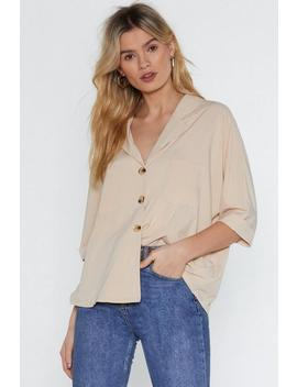 V Cute Relaxed Shirt by Nasty Gal