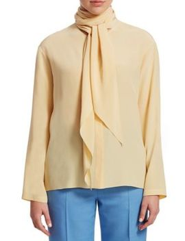 Katina Tie Neck Blouse by The Row