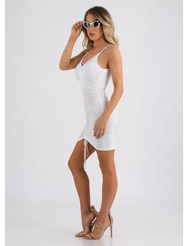Shirr Of Yourself Ruched Minidress by Go Jane