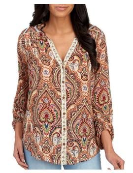 Paisley Button Front Tunic 						Paisley Button Front Tunic by Democracy 						Democracy