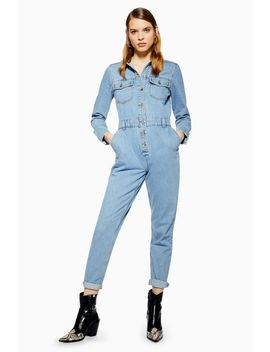 Denim Slouchy Boiler Suit by Topshop