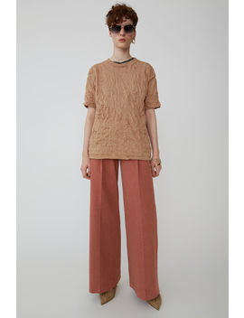 Textured Trousers Old Pink by Acne Studios