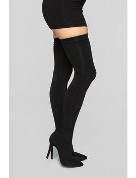 Outrageous Heeled Boots   Black by Fashion Nova