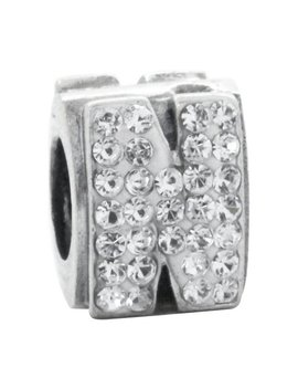 Link Up Sterling Silver Alphabet Bead Charm   N by Argos