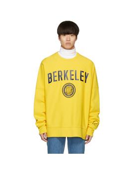 Yellow Berkeley Edition University Sweatshirt by Calvin Klein 205 W39 Nyc