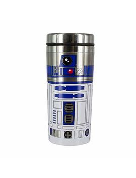 Star Wars: The Last Jedi The Last Jedi R2 D2 Travel Mug, Brushed Steel, Multi Colour, 18.5 X 8 X 8 Cm by Star Wars: The Last Jedi