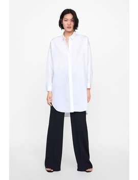 Oversized Poplin Shirt  New Inwoman New Collection by Zara