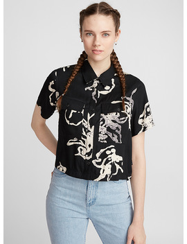 Abstract Cropped Shirt by Rvca