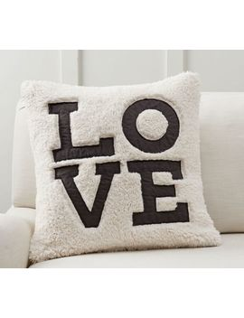 Love Sherpa Pillow Cover by Pottery Barn