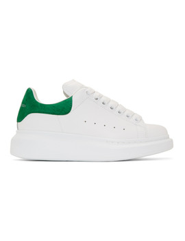 Ssense Exclusive White & Green Oversized Sneakers by Alexander Mcqueen