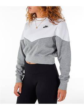 Women's Nike Sportswear Heritage Crop Crew Sweatshirt by Nike