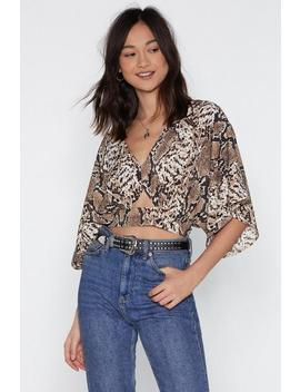 Fang You For Loving Me Snake Crop Top by Nasty Gal