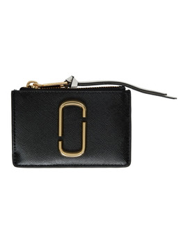 Black & White Snapshot Top Zip Multi Card Holder by Marc Jacobs