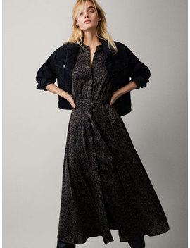 Sukienka W Lamparcie CĘtki Z WiĄzaniem by Massimo Dutti