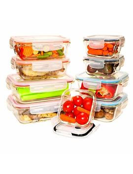 [9 Value Pack] Tempered Glass Food Storage Containers W/Locking Lids | No Leak, Bpa Free, Airtight, Microwave/Oven/Dishwasher/Freezer Safe by Benir Kitchen