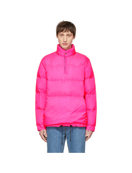 Pink Crescent Down Works Edition Down Western Pullover Jacket by Bianca Chandon