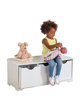 Kid Kraft Nantucket Storage Bench   White by Kid Kraft