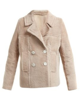 Shearling Double Breasted Jacket by Yves Salomon