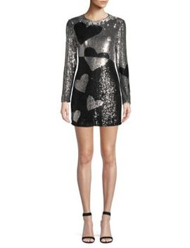 Axel Heart Sequined Sheath Dress by Parker