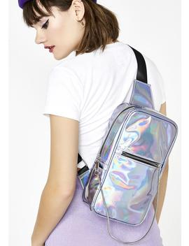 Hologram Chain Sling Bag by Like Dreams