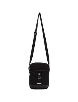 Black Canvas Rivington Case Messenger Bag by Saint Laurent