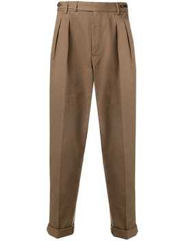 Pleated Tapered Trousers by Pt01