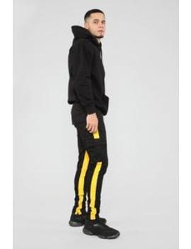 Travis Cargo Pants   Black/Yellow by Fashion Nova