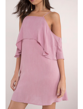 Bare In Mind Mauve Shift Dress by Tobi