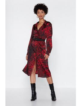 Deeper And Down Leopard Dress by Nasty Gal