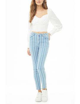 Striped Skinny Jeans by Forever 21