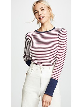Stripe Long Sleeve Top by Three Dots